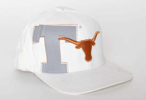 Texas Longhorns Top Of The World Flat Cap White