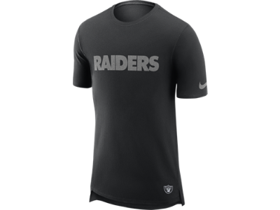 Oakland Raiders Nike Enzyme Droptail T-Shirt