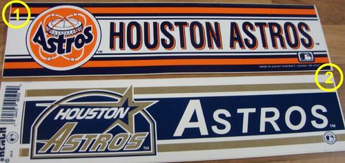Houston Astros Aufkleber
