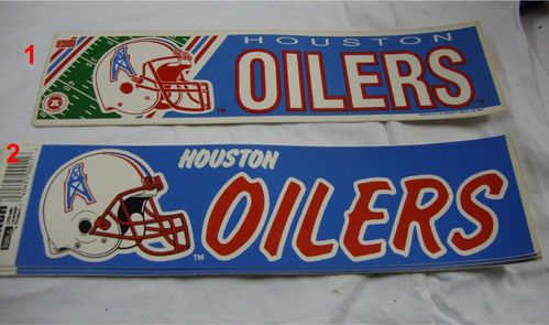 Houston Oilers Aufkleber