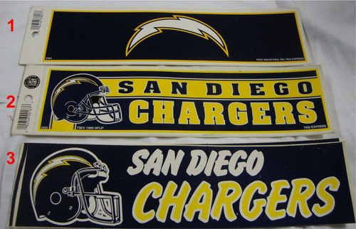 San Diego Chargers Aufkleber 2