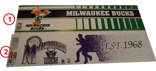 Milwaukee Bucks Aufkleber
