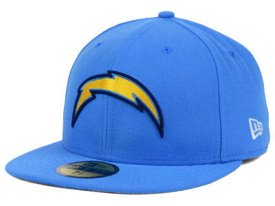 Los Angeles Chargers NFL On Field New Era 59Fifty Light Blue