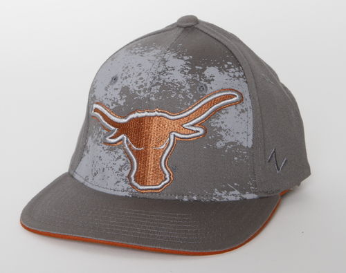 Texas Longhorns Zephyr Flat FlexFit Cap Grey