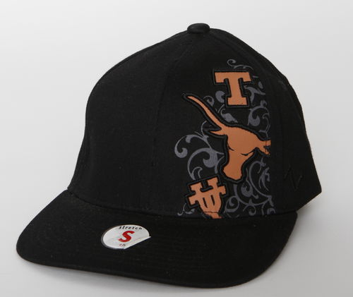 Texas Longhorns Zephyr Flat Cap Black