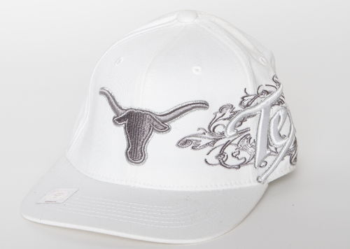 Texas Longhorns Top Of The World Texas Flat Cap White