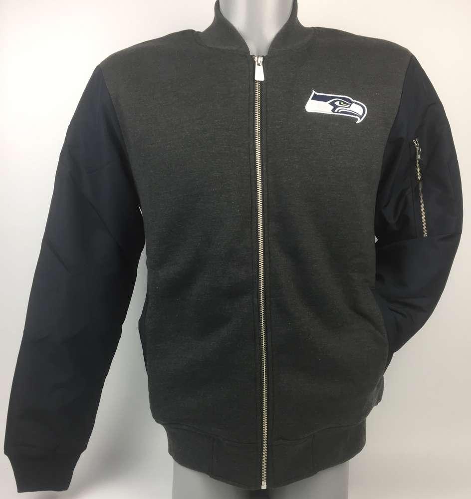 8b6c645c1 Seattle Seahawks New Era Fleece Bomber Jacket