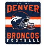 Denver Broncos Singular Fleece Decke