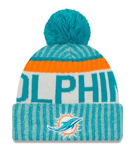 Miami Dolphins NFL On Field 2017 New Era Knit
