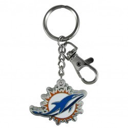 Miami Dolphins ZAMAC Key Chain