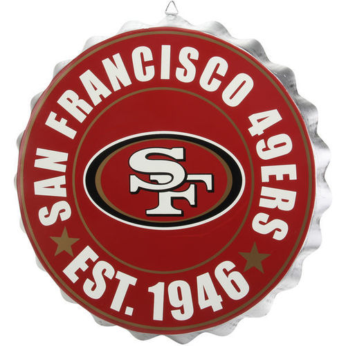 San Francisco 49ers Flaschendeckel Schild