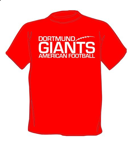 Dortmund Giants Script T-Shirt rot