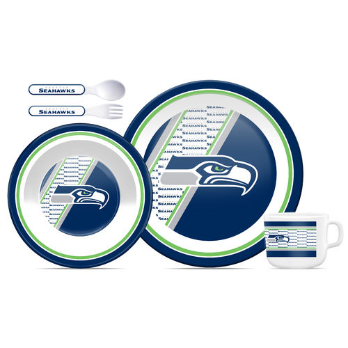 Seattle Seahawks Kids Dinner Set