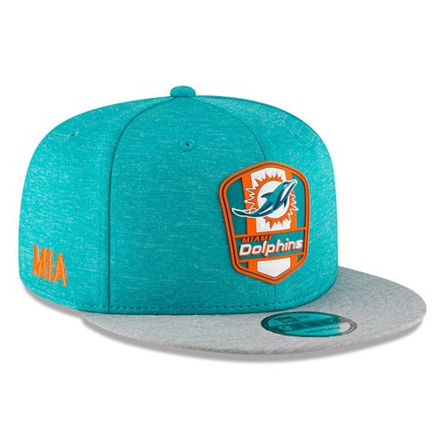 Miami Dolphins NFL Sideline 2018 road New Era 9Fifty