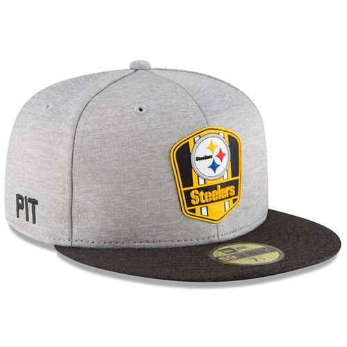Pittsburgh Steelers NFL Sideline 2018 road New Era 59Fifty