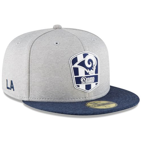 Los Angeles Rams NFL Sideline 2018 road New Era 59Fifty
