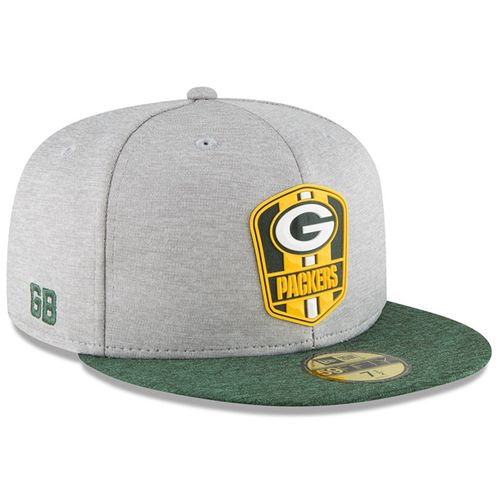 Green Bay Packers NFL Sideline 2018 road New Era 59Fifty