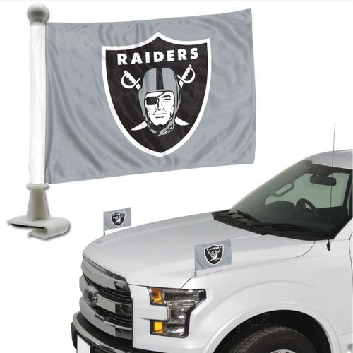 Oakland Raiders Car Flag Set