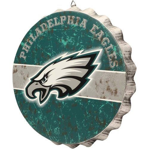 Philadelphia Eagles Distressed Bottlecap Sign