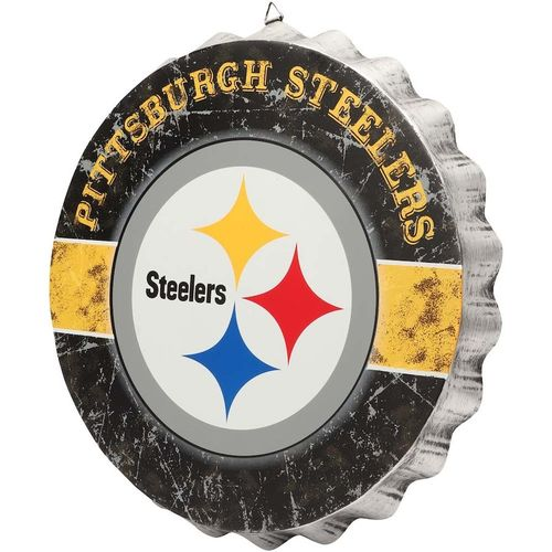 Pittsburgh Steelers Distressed Bottlecap Sign