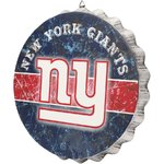 New York Giants Distressed Bottlecap Sign