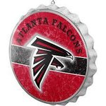 Atlanta Falcons Distressed Bottlecap Sign