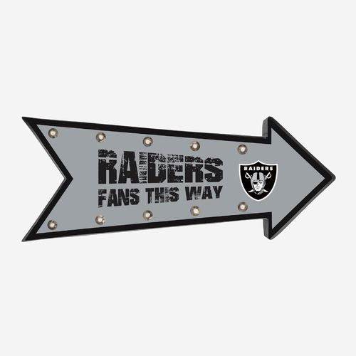 Oakland Raiders Arrow Marquee LED Sign