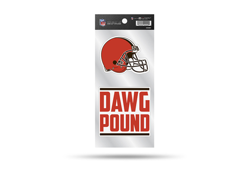 Cleveland Browns Double Up Die-Cut Stickers