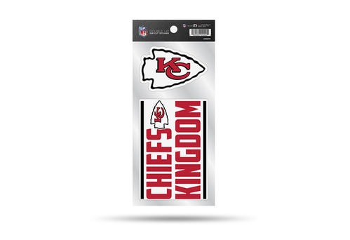 Kansas City Chiefs Double Up Die-Cut Stickers