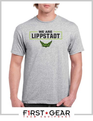 "Lippstadt Eagles ""we are"" T-Shirt grey"